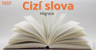 Test cizích slov - migrace