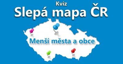 Slepá mapa ČR - menší města a obce